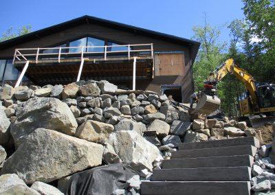 Installation fosse septique et réaménagement paysager chalet